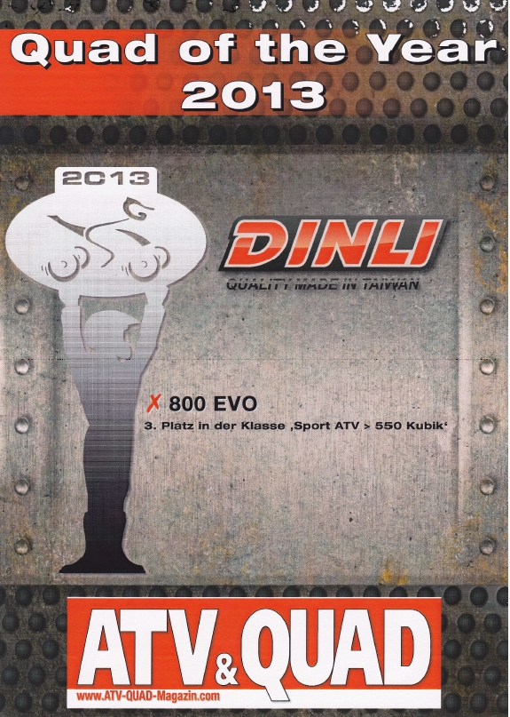 Dinli 3th Quad of the Year 2013